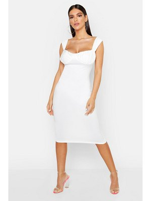 Boohoo Cupped Detail Midi Bodycon Dress