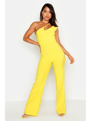 Boohoo Cut Out Strappy One Shoulder Jumpsuit