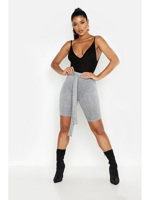 Boohoo Cut & Sew Tie Waist Cycling Short