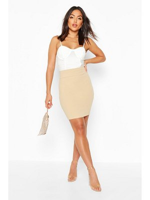 Boohoo Deep Contour Waistband Mini Skirt