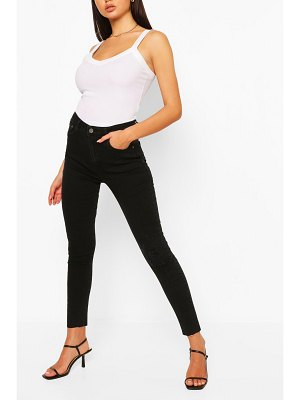 Boohoo Denim Distressed Knee Rib Skinny Jean