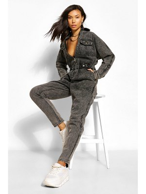 Boohoo Denim Pocket Boilersuit