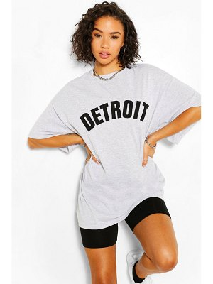 Boohoo Detroit Applique Oversized T-Shirt