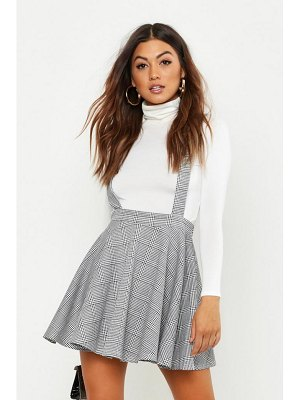 Boohoo Dogtooth flannel Pinafore Skirt