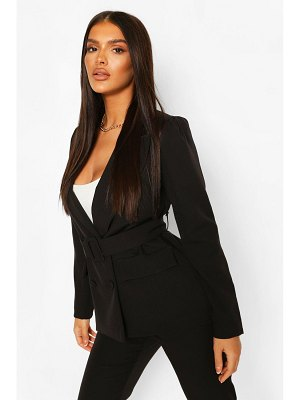Boohoo Double Breasted Belted Blazer