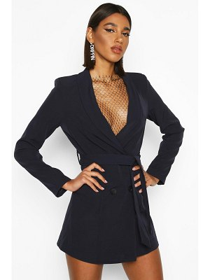 Boohoo Double Breasted Belted Blazer Dress