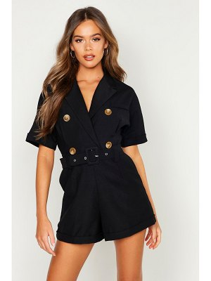 Boohoo Double Breasted Belted romper