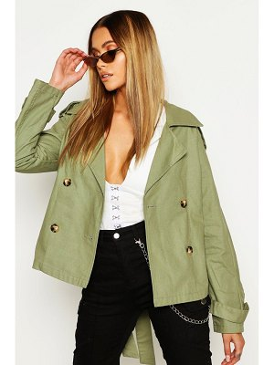 Boohoo Double Breasted Belted Short Trench