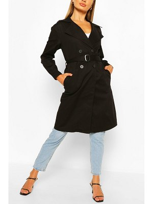 Boohoo Double Breasted D-Ring Detail Trench