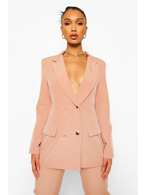 Boohoo Double Breasted Fitted Blazer