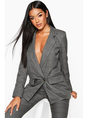 Boohoo Double Breasted flannel Blazer
