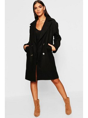Boohoo Double Breasted Oversized Wool Look Coat