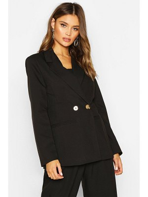 Boohoo Double Breasted Strong Shoulder Blazer