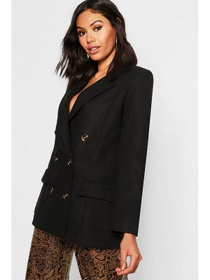 Boohoo Double Breasted Wool Look Blazer