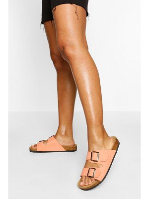 Boohoo Double Strap Footbed Slippers