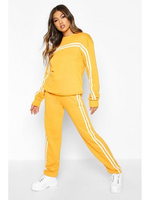 Boohoo Double Stripe Sweater Tracksuit