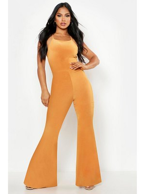 Boohoo Double Up Flare Jumpsuit