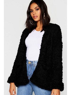 Boohoo Edge To Edge Pocket Cardigan