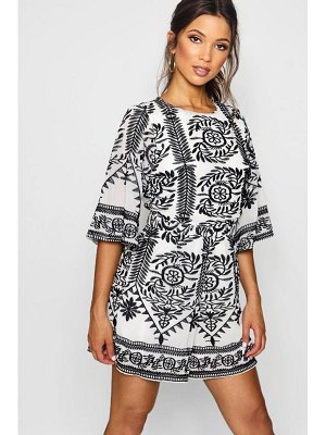 Boohoo Embroidered Boutique Detail Romper