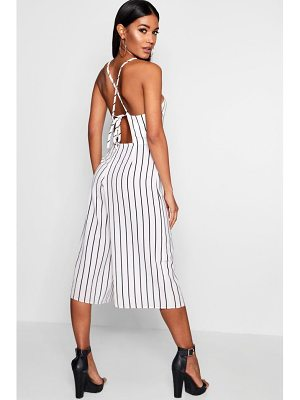 Boohoo High Neck Open Back Jumpsuit