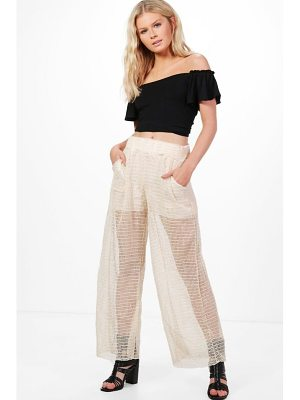 Boohoo Emma Sheer Lace Trousers
