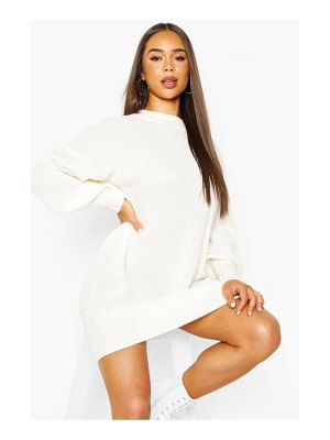 Boohoo Extreme Oversized Crew Neck Knitted Dress
