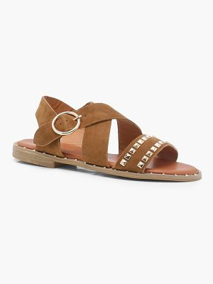 Boohoo Studded Cross Strap Sandals