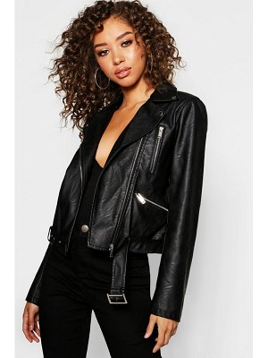 Boohoo Faux Leather Biker Jacket
