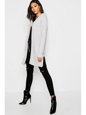 Boohoo Fisherman Edge To Edge Cardigan