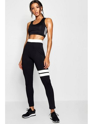 Boohoo Fit Contrast Running Legging