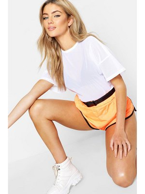 Boohoo Fit Oversized Mesh Workout Tee