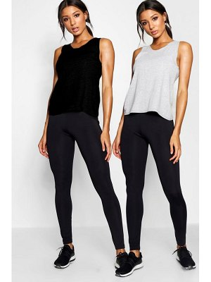 Boohoo Fit Strapping Back 2 Pack Tank