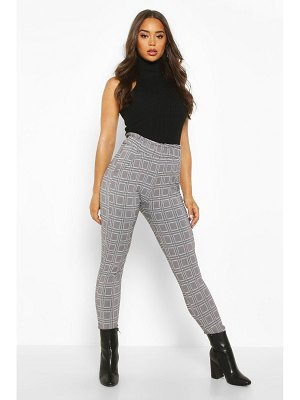 Boohoo flannel Trouser With Paperbag Waist And Pocket