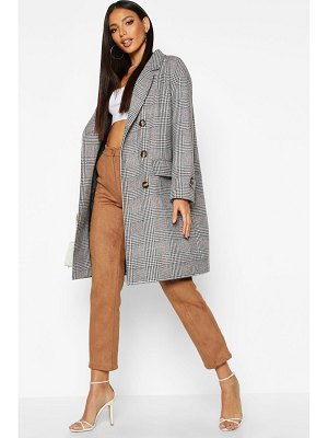 Boohoo flannel Wool Look Trench Coat