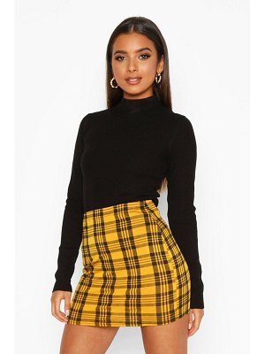 Boohoo Flanneled Jersey Mini Skirt