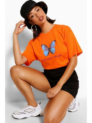 Boohoo Flap Your Wings Graphic T-Shirt
