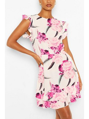 Boohoo Floral Print Bodycon Mini Dress