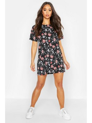 Boohoo Floral Print Shift Dress