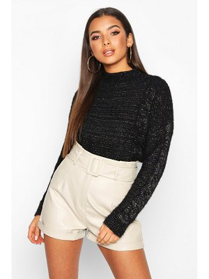 Boohoo Fluffy Cable Knit sweater