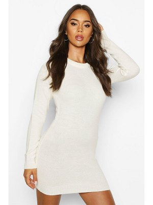 Boohoo Fluffy Turn Up Cuff V Neck sweater