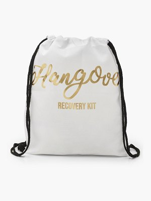 Boohoo Foil Print Hangover Recovery Draw Cord Rucksack