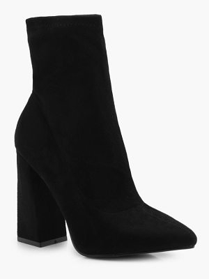 Boohoo Flared Suedette Sock Boots