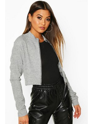 Boohoo Funnel Neck Heavy Rib Bomber Jacket