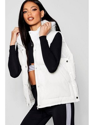 Boohoo Funnel Neck Padded Gilet