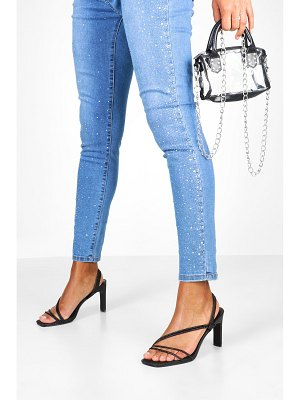 Boohoo Glitter Low Heel Sandals
