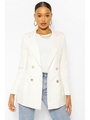Boohoo Gold Button Fitted Blazer