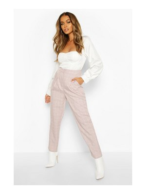 Boohoo Grid flannel Tapered Trouser