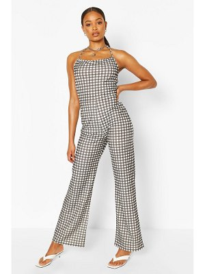 Boohoo Halter Neck Strappy Jumpsuit