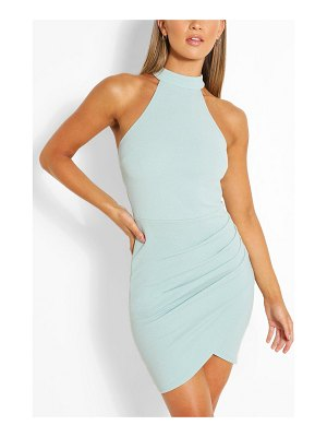 Boohoo High Neck Bodycon Mini Dress