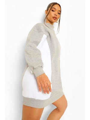 Boohoo High Neck Colour Block Sweat Dress